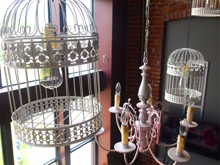 DIY Bird cage chandeliers. The Decor Diva   decordivastyle.com