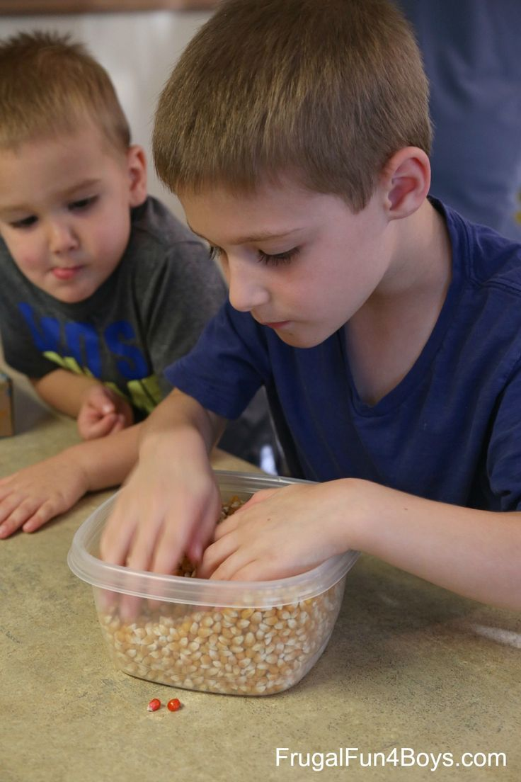 find the three kernels in one minute! Minute-to-Win-It Family Game Challenges