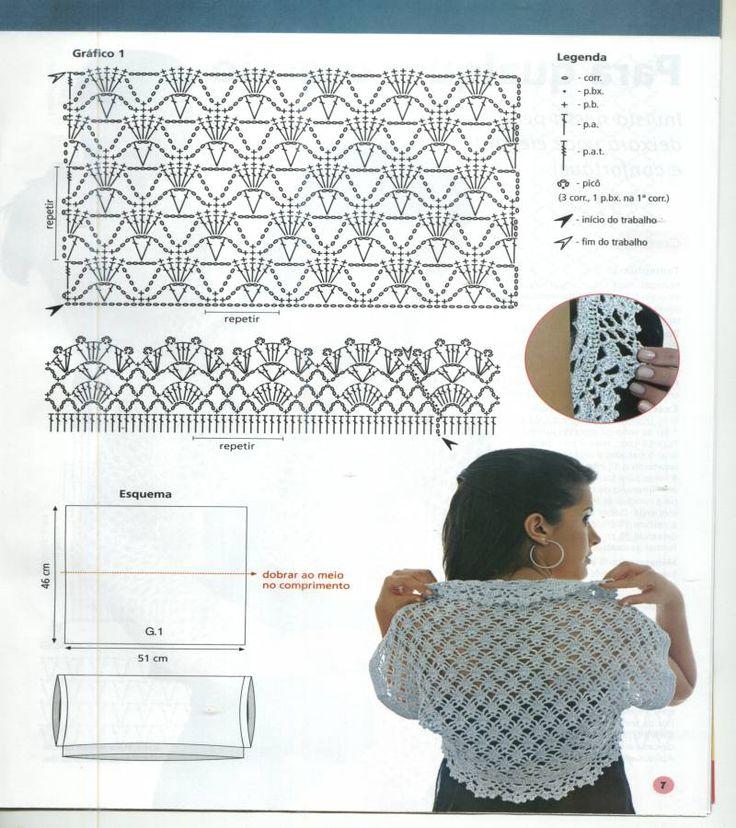 17 mejores imágenes sobre tejidos en Pinterest | Patrón gratis ...