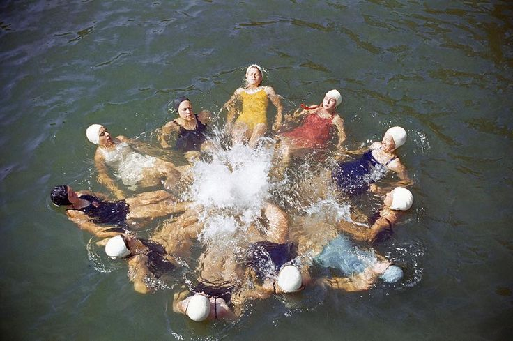 Do you know what year this photo of women training to be lifeguards and swimming instructors in North Carolina was published in National Geographic magazine? Photo by J. Baylor Roberts. Check back to see the answer posted in the caption. #tbt #throwbackthursday #vintage #swimming #lifeguard #northcarolina  Answer: 1941