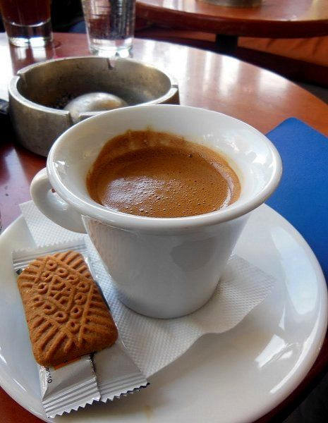 Greek Coffee and Biscuit..