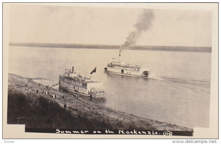 RP: Steamboats , Summer on the MacKenzie River , N.W.T. , Canada , 10-20s