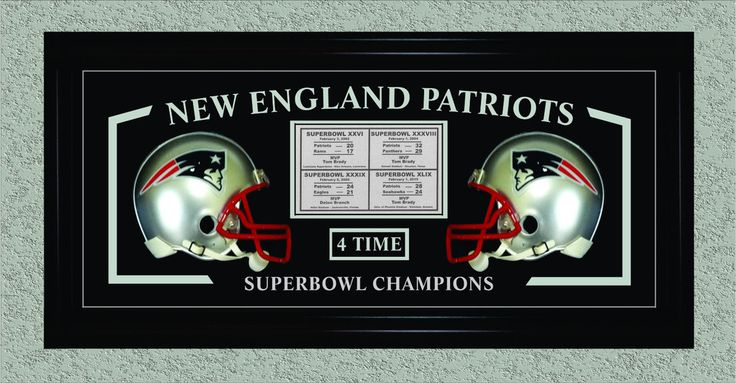 New England Patriots 4 - Time Superbowl Champions