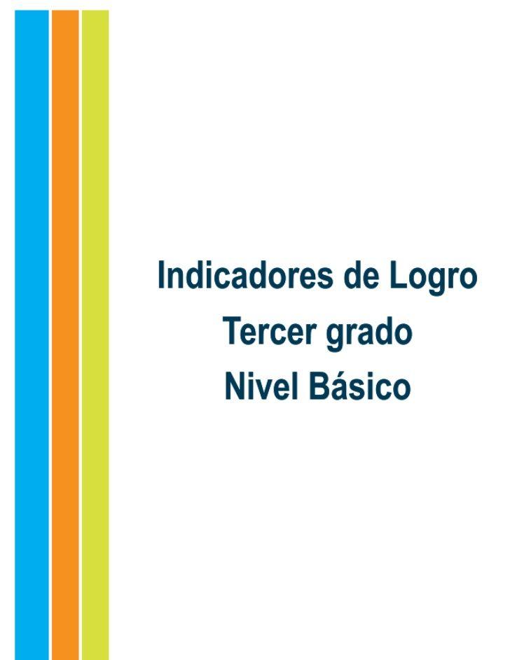 Indicadores de logro. Tercer grado. Nivel BásicoEquipo consultivoMelanio Paredes, M. A.Lic. Susana MichelLic. Mery Valerio...