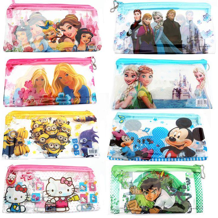 1 Stks/Verkopen Jongens & Meisjes Cartoon PVC Reizen Cosmetische Tassen Case Vrouwen voor Make Up Pouch Etui luxe Beroemde Merk Lady Levert