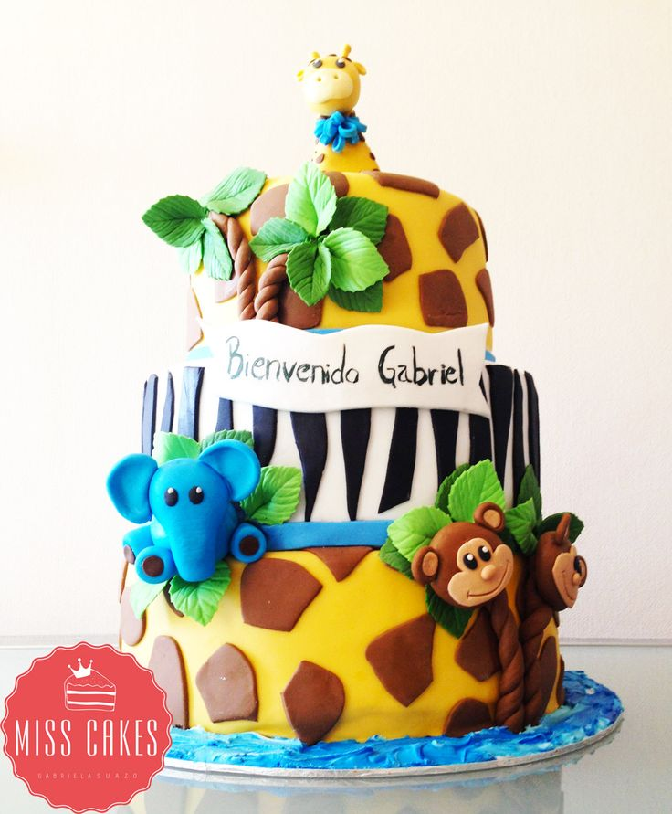 Animals Cakes, Torta animales, Children cakes, Torta Infantil