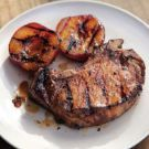 Brined Pork Chops with Grilled Stone Fruit Recipe on Williams-Sonoma.com