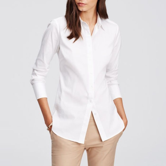 The Ten Best White Button-Down Shirts // #3 Ann Taylor Perfect Shirt // Check out the rest of the best here!