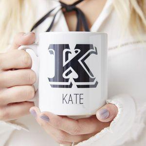 Monogram Personalised Mug - mugs