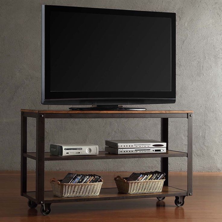 Industrial Tv Stand And Coffee Table: Granger Industrial Rustic Storage Metal Frame TV Stand