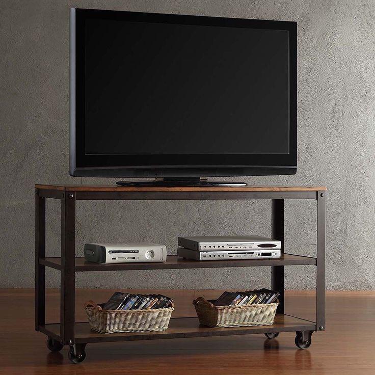 Granger Industrial Rustic Storage Metal Frame Tv Stand