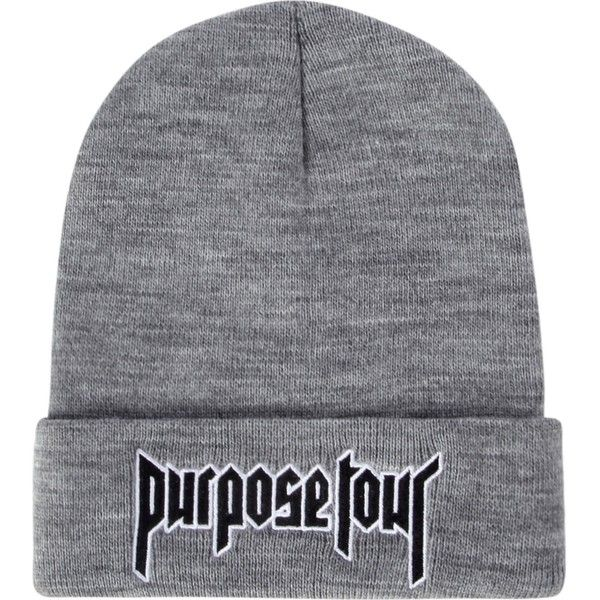 JUSTIN BIEBER Purpose Tour beanie (619.635 IDR) ❤ liked on Polyvore featuring men's fashion, men's accessories, men's hats, hats and mens beanie hats