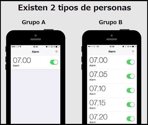 Hay dos tipos de personas: Alarmas