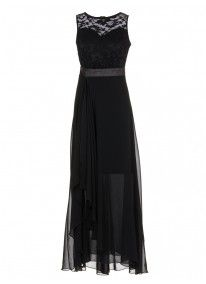 Layered Gown Black