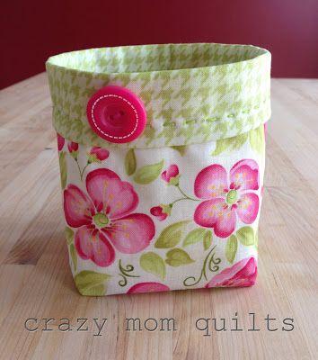 crazy mom quilts: thread catcher pattern