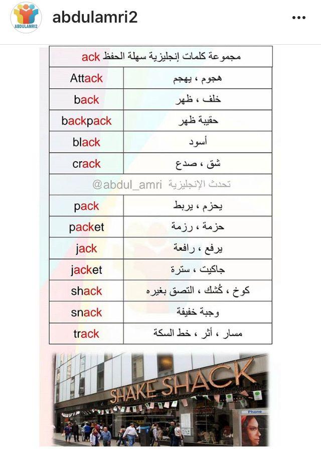 كلمات ومعناها Learn English Words Learn English English Words