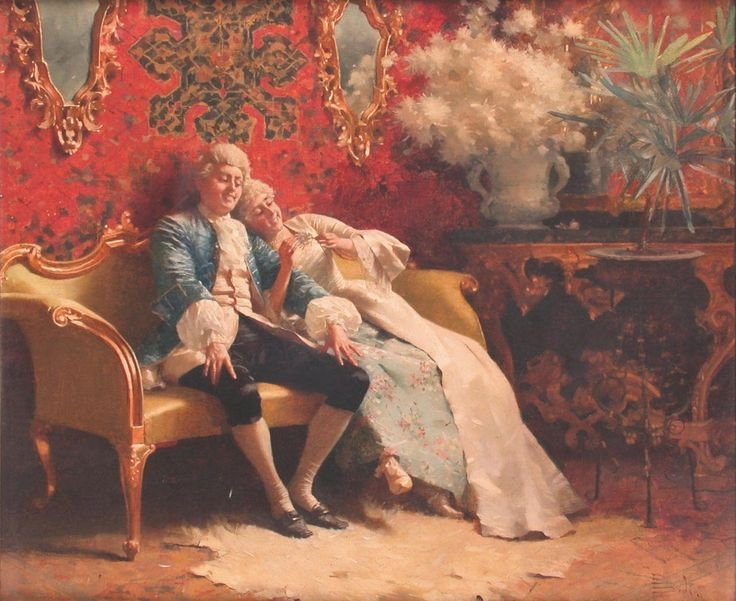 Paolo Bedini (1844-1924) - A game of He loves me: