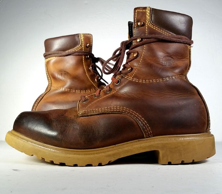 Vintage RED WING BOOTS 10 Brown Leather Work Boots Men's *USA VTG* 10D #RedWingShoes #AnkleBoots