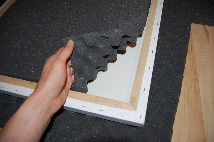 help to absorb sound in a room. Easy to make. Each panel consists of a framed piece of canvas with foam inserts!!!