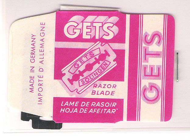 GETS vintage SAFETY RAZOR BLADE / lametta da barba / lame de rasoir
