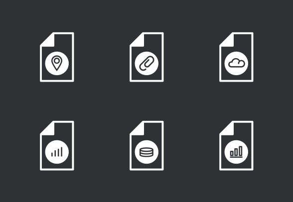 Bold outline vector icons. #LineIcons #VectorIcons #fileIcon