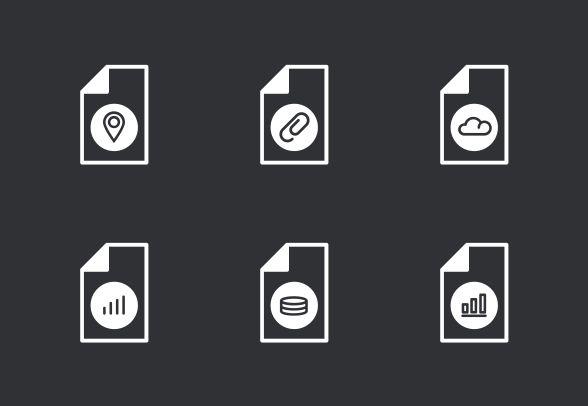 Bold outline vector icons. #LineIcons #VectorIcons #fileIcon