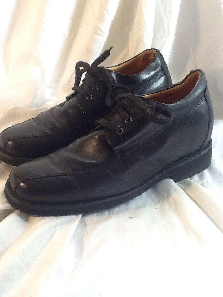 3f9a5684477 Toto Black Elevator Shoe Hidden Platform Lift Dress Shoes Men s Sz 8 EUC  120830 - Dress