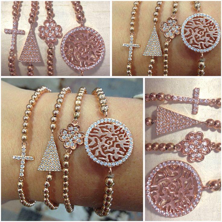 Welke PScallme armband vind jij het mooist?  Shop de rosé gouden armbanden online op www.pscallme.nl