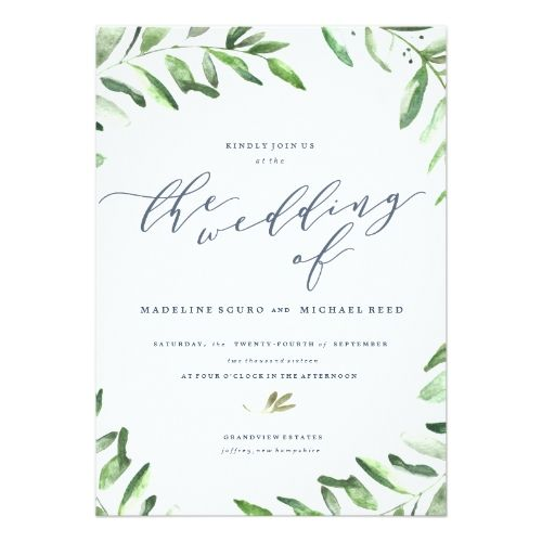 Best 25 watercolor wedding invitations ideas on pinterest watercolor wedding invitation olive branch boho garden wedding invitation junglespirit Image collections
