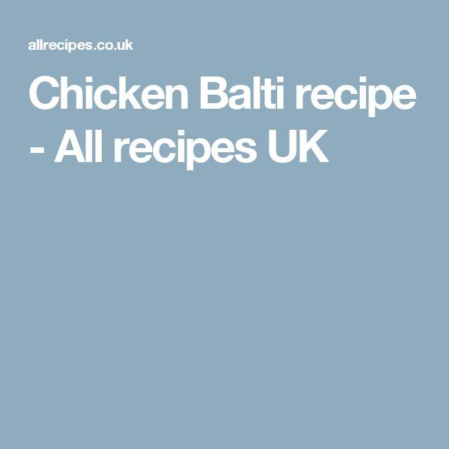 Chicken Balti recipe - All recipes UK