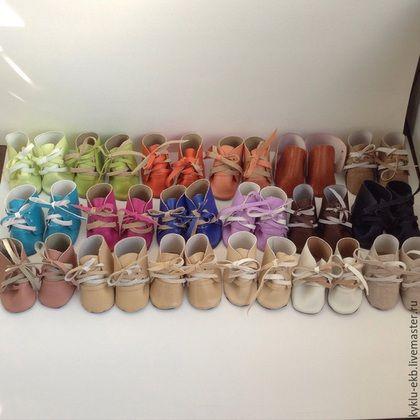 Обувь ручной работы. Ярмарка Мастеров - ручная работа. Купить Ботиночки для куклы. Handmade. Разноцветный, ботиночки, обувь ручной работы