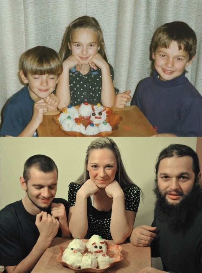Siblings Recreate Childhood Photos as a Gift for Their Parents - My Modern Metropolis