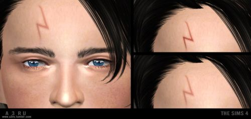 Harry Potter's Lightning Bolt Scar at A3RU • Sims 4 Updates