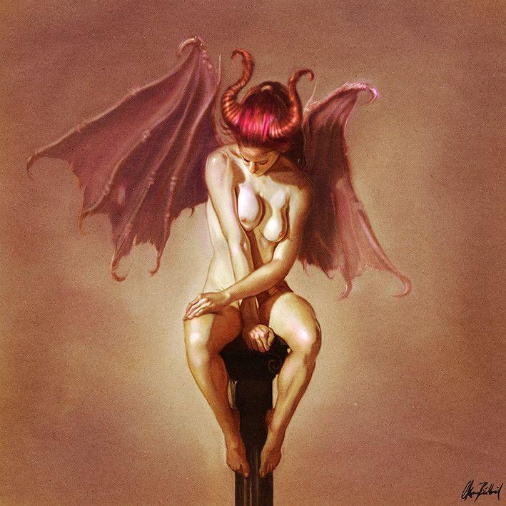 Erotisk Demon Kunstverk