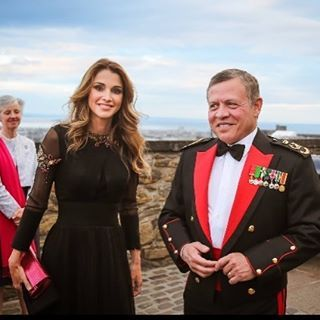 Queen Rania and King Abdullah Of Jordan attended the 2016 Edinburgh Military…