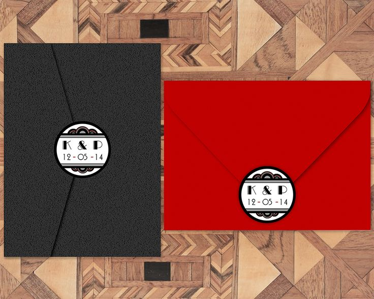 As part of our Art Deco invitation suite, you can order custom envelope seals as part of our new print-your-own invitations available on Etsy  Printable Wedding Invitation- Art Deco, Gatsby, 1920s, Wedding Invitation, Invitation Suite, Wedding Invite