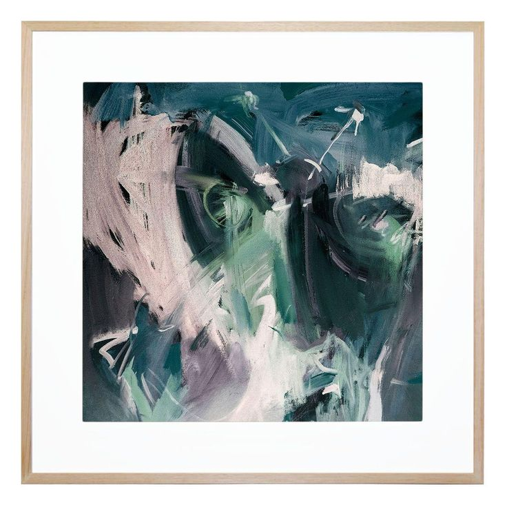 Employing moody tones and broad, thick strokes, this striking, contemporary…