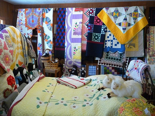 Quilt Display At Rachels Shop In Indiana