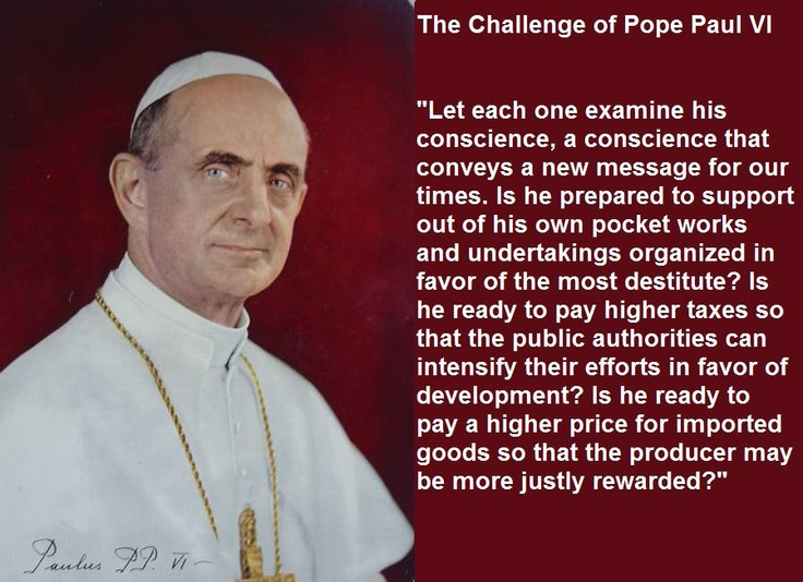 challenge of Pope Paul VI