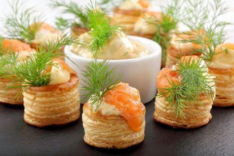 Volovanes Rellenos de Salmón y Salsa Americana Te enseñamos a cocinar recetas fáciles cómo la receta de Volovanes Rellenos de Salmón y Salsa Americana y muchas otras recetas de cocina..
