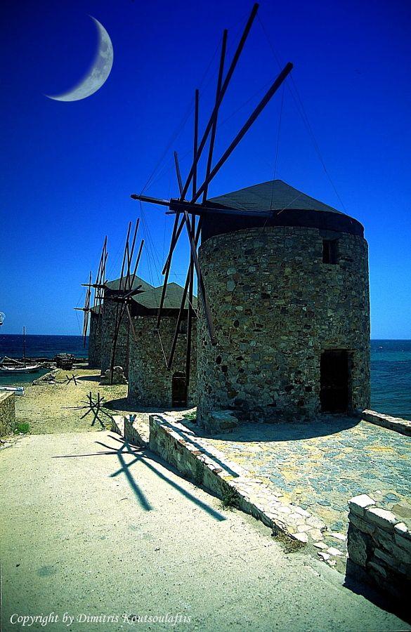 Chios island, Greece, Windmills,Vrontados by Dimitris Koutsoulaftis - Photo 73783113 - 500px