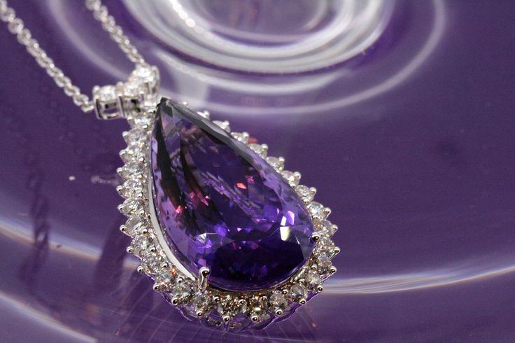 34.83ct Amethyst and diamond necklace www.cmweldon.ie