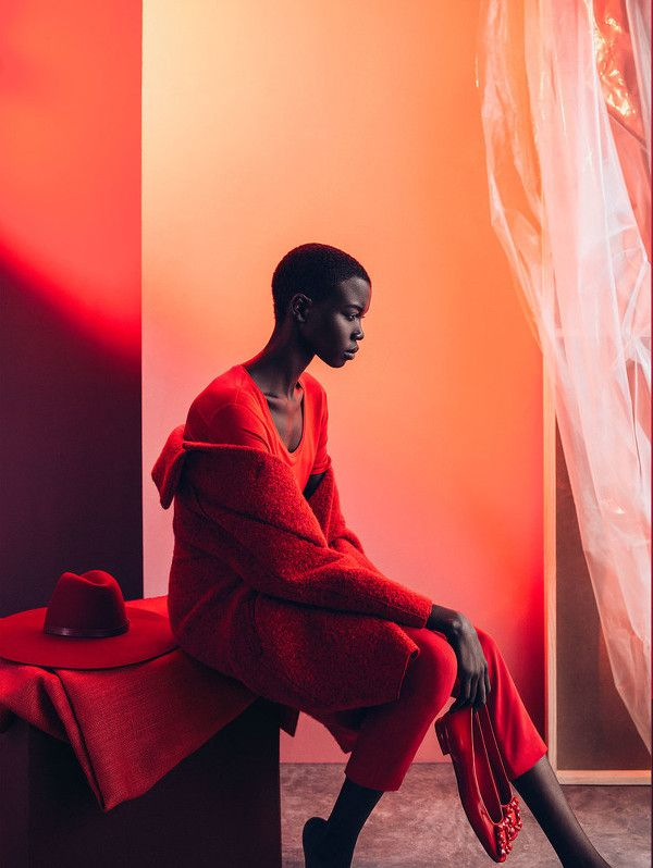 MARIE CLAIRE SOUTH AFRICA 2015 | Red Hot! Nykhor Paul For Marie Claire South Africa | Complete Fashion ...