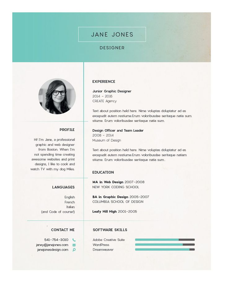 129 best Photography, graphic design and such images on Pinterest - resume building websites