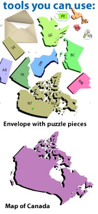 Map of Canada puzzle