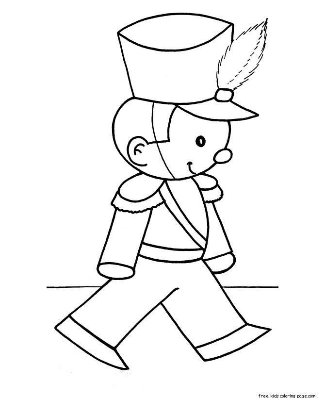 деревянные солдатики картинки для раскрашивания руки
