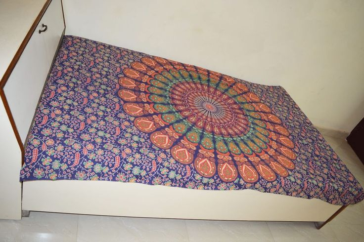 Indian beautiful mandala hippie wall hanging hippie table cloth tapestry #Unbranded #Ethnic