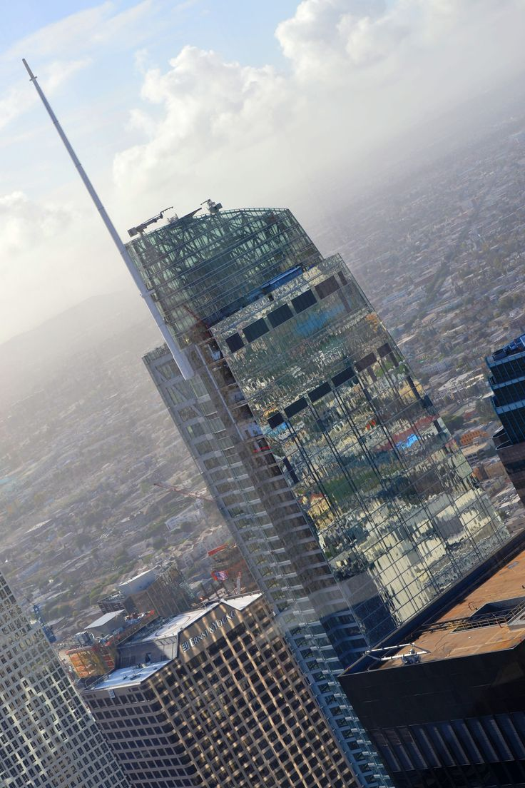 https://flic.kr/p/PSrv2q | Wilshire Grand Hotel project | View from US Bank Tower observation deck.