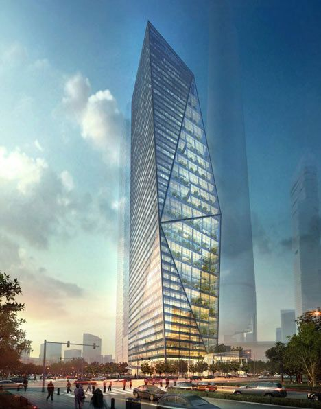 Harmony Tower by Studio Daniel Libeskind, Too bad the freedom tower isn't nearly this cool