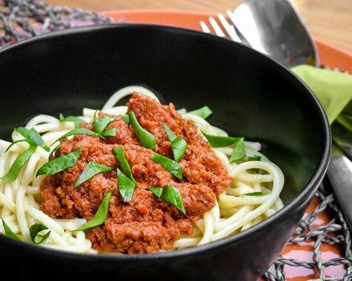 #vegan #vegetarian Vegán bolognai http://kertkonyha.blog.hu/2017/03/24/vegan_bolognai